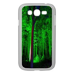 Spooky Forest With Illuminated Trees Samsung Galaxy Grand Duos I9082 Case (white) by Nexatart