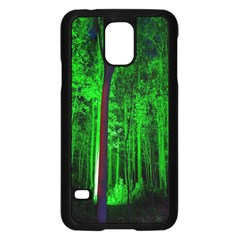 Spooky Forest With Illuminated Trees Samsung Galaxy S5 Case (black)
