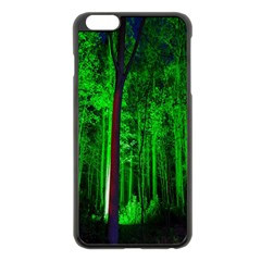 Spooky Forest With Illuminated Trees Apple Iphone 6 Plus/6s Plus Black Enamel Case by Nexatart