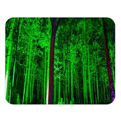 Spooky Forest With Illuminated Trees Double Sided Flano Blanket (large)  by Nexatart