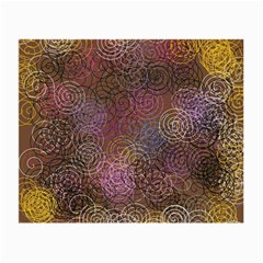 2000 Spirals Many Colorful Spirals Small Glasses Cloth by Nexatart