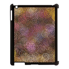 2000 Spirals Many Colorful Spirals Apple Ipad 3/4 Case (black)