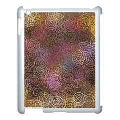 2000 Spirals Many Colorful Spirals Apple Ipad 3/4 Case (white)