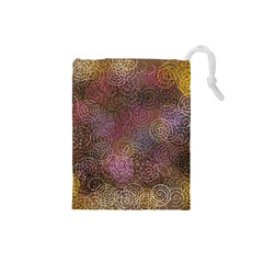 2000 Spirals Many Colorful Spirals Drawstring Pouches (small)  by Nexatart