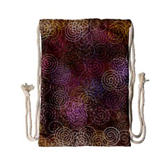 2000 Spirals Many Colorful Spirals Drawstring Bag (small) by Nexatart