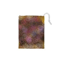 2000 Spirals Many Colorful Spirals Drawstring Pouches (xs)  by Nexatart