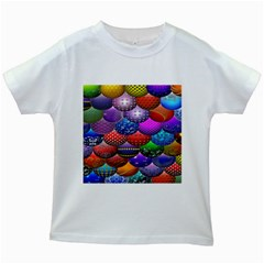 Fun Balls Pattern Colorful And Ornamental Balls Pattern Background Kids White T Shirts