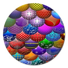 Fun Balls Pattern Colorful And Ornamental Balls Pattern Background Magnet 5  (round)