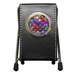 Fun Balls Pattern Colorful And Ornamental Balls Pattern Background Pen Holder Desk Clocks by Nexatart