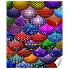 Fun Balls Pattern Colorful And Ornamental Balls Pattern Background Canvas 8  X 10  by Nexatart