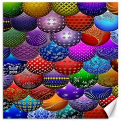 Fun Balls Pattern Colorful And Ornamental Balls Pattern Background Canvas 16  X 16   by Nexatart
