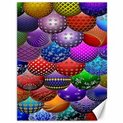 Fun Balls Pattern Colorful And Ornamental Balls Pattern Background Canvas 36  X 48   by Nexatart