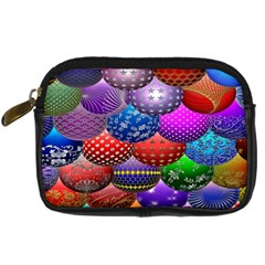Fun Balls Pattern Colorful And Ornamental Balls Pattern Background Digital Camera Cases by Nexatart