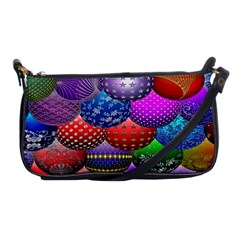 Fun Balls Pattern Colorful And Ornamental Balls Pattern Background Shoulder Clutch Bags by Nexatart
