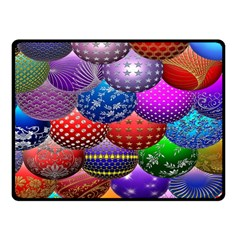 Fun Balls Pattern Colorful And Ornamental Balls Pattern Background Fleece Blanket (small) by Nexatart