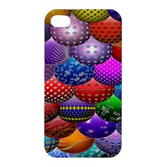 Fun Balls Pattern Colorful And Ornamental Balls Pattern Background Apple Iphone 4/4s Hardshell Case by Nexatart