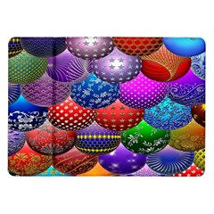 Fun Balls Pattern Colorful And Ornamental Balls Pattern Background Samsung Galaxy Tab 10 1  P7500 Flip Case by Nexatart