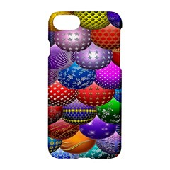 Fun Balls Pattern Colorful And Ornamental Balls Pattern Background Apple Iphone 7 Hardshell Case by Nexatart