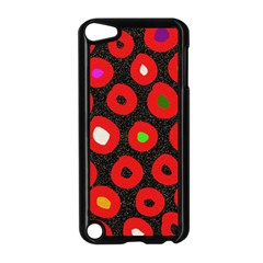 Polka Dot Texture Digitally Created Abstract Polka Dot Design Apple Ipod Touch 5 Case (black) by Nexatart
