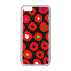 Polka Dot Texture Digitally Created Abstract Polka Dot Design Apple Iphone 5c Seamless Case (white)