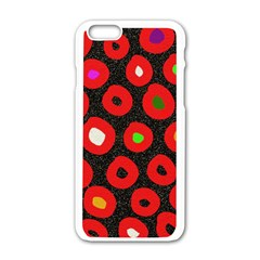 Polka Dot Texture Digitally Created Abstract Polka Dot Design Apple Iphone 6/6s White Enamel Case by Nexatart