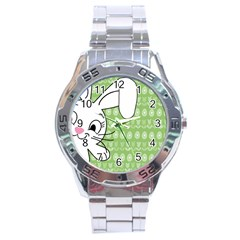 Easter Bunny  Stainless Steel Analogue Watch by Valentinaart