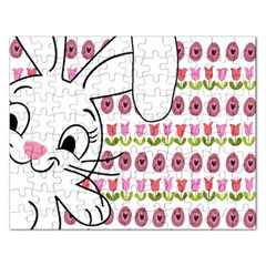 Easter Bunny  Rectangular Jigsaw Puzzl by Valentinaart