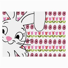Easter Bunny  Large Glasses Cloth (2 Side)