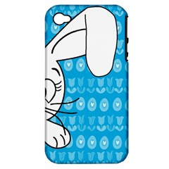 Easter Bunny  Apple Iphone 4/4s Hardshell Case (pc+silicone) by Valentinaart