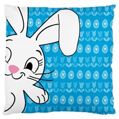 Easter Bunny  Large Flano Cushion Case (one Side)