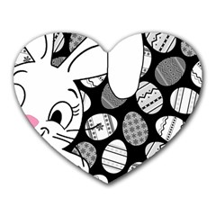 Easter Bunny  Heart Mousepads by Valentinaart