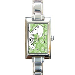 Easter Bunny  Rectangle Italian Charm Watch by Valentinaart