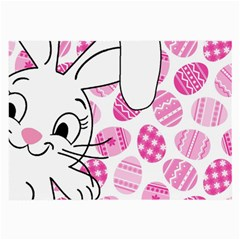Easter Bunny  Large Glasses Cloth by Valentinaart