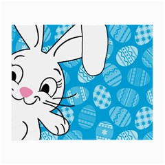 Easter Bunny  Small Glasses Cloth (2 Side) by Valentinaart
