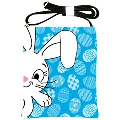 Easter Bunny  Shoulder Sling Bags by Valentinaart