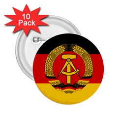 Flag Of East Germany 2 25  Buttons (10 Pack)  by abbeyz71