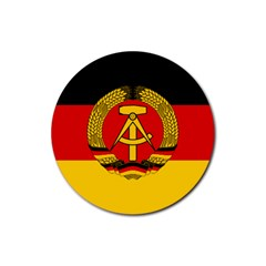 Flag Of East Germany Rubber Coaster (round)  by abbeyz71