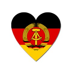 Flag Of East Germany Heart Magnet by abbeyz71