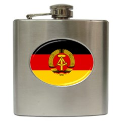 Flag Of East Germany Hip Flask (6 Oz) by abbeyz71