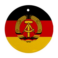 Flag Of East Germany Round Ornament (two Sides) by abbeyz71