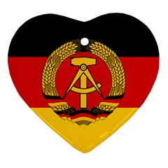 Flag Of East Germany Heart Ornament (two Sides) by abbeyz71