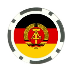 Flag Of East Germany Poker Chip Card Guard (10 Pack) by abbeyz71