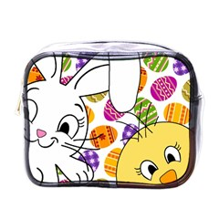 Easter Bunny And Chick  Mini Toiletries Bags by Valentinaart