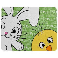 Easter Bunny And Chick  Jigsaw Puzzle Photo Stand (rectangular) by Valentinaart
