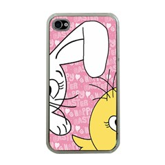 Easter Bunny And Chick  Apple Iphone 4 Case (clear) by Valentinaart