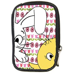 Easter Bunny And Chick  Compact Camera Cases by Valentinaart