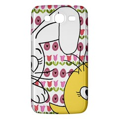 Easter Bunny And Chick  Samsung Galaxy Mega 5 8 I9152 Hardshell Case  by Valentinaart