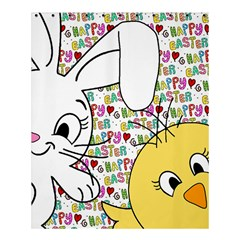 Easter Bunny And Chick  Shower Curtain 60  X 72  (medium)  by Valentinaart