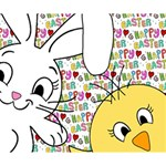 Easter bunny and chick  Deluxe Canvas 14  x 11  14  x 11  x 1.5  Stretched Canvas