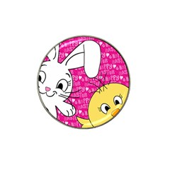 Easter Bunny And Chick  Hat Clip Ball Marker (10 Pack) by Valentinaart